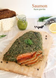 saumon façon gravlax au gin et au genièvre