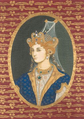 Detail of Roxelana in our decorative panel of Persian portraits. Available from Iksel.com