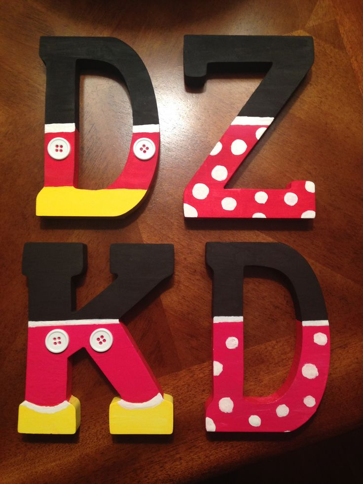 Easy to make! Fun way to incorporate a little Disney into sorority letters. Delta Zeta, Kappa Delta pictured. Inspired by Pinterest.