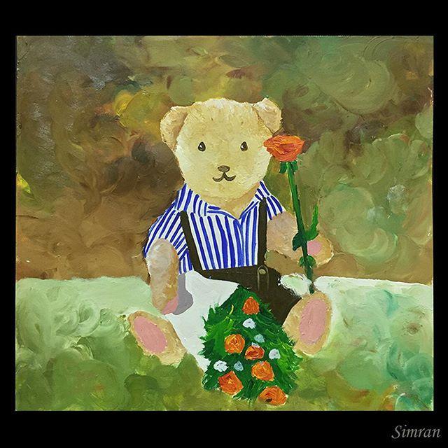 #teddybear #teddy #stilllife #flowers #rose