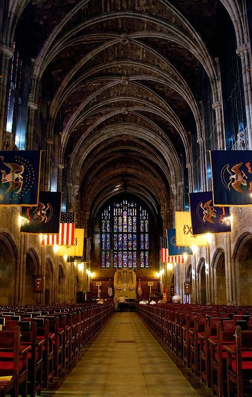Cadet Chapel, West Point Military Academy, New York, USA.