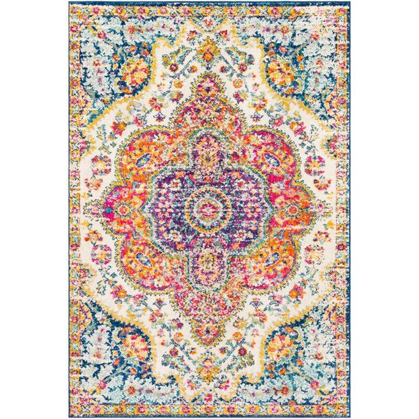 Walmart Tybalt Orange Traditional Medallion 7 10 X 10 3 Area Rug In 2020 Area Rugs Oriental Area Rugs Pink Area Rug