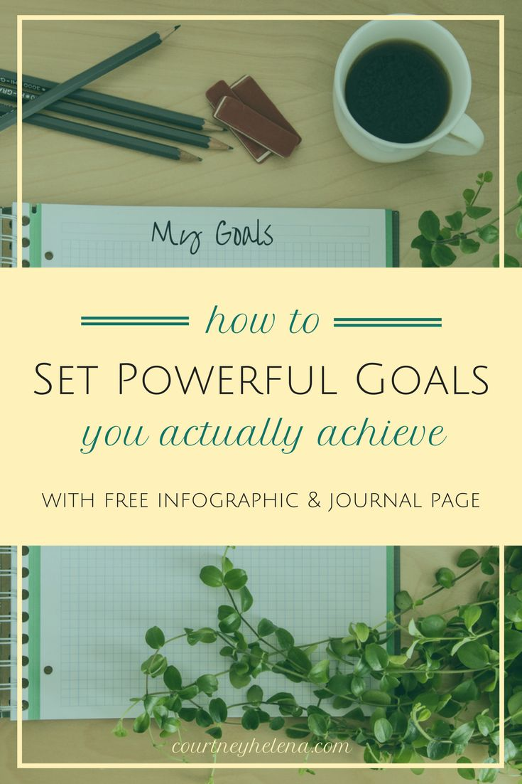 How to Set Powerful Goals You Actually Achieve - with free infographic and journal page printables