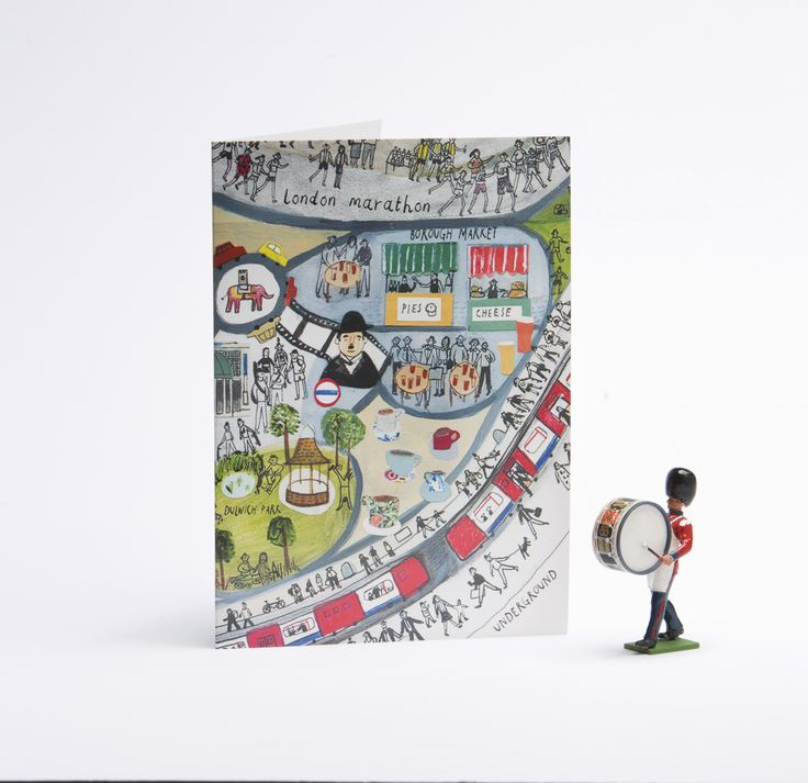 Colourful greetings card from our London Mapped Out range.