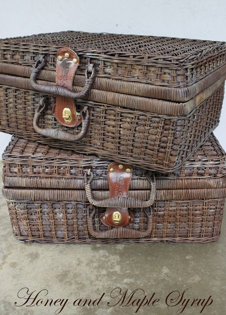 Honey and Maple Syrup: Weathered Baskets