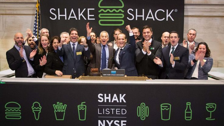 +118,5 % 1st day $SHAK , In three days, the estimated selling price of Shake Shack's IPO went from $14-$16 per share to $21. Shares closed at almost $46.