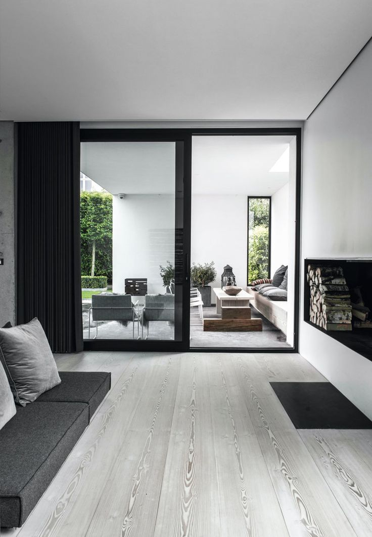 What a beautiful home - love the clean lines and monochrome tones