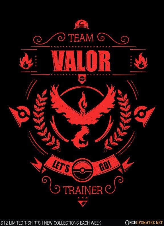 Team Valor is available on t-shirts, hoodies, tank tops, and more until 7/18 at…