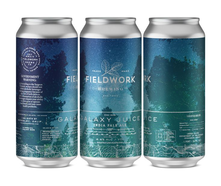 Nothing in this year's RDA captures the wanderlust of the Far West quite like the can designs for Fieldwork Brewing Company. Click to see the rest of the designs. #packagingdesign #beer