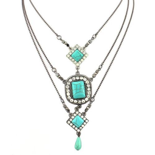 Retro-Layered-Necklace-For-Women-Bohemian-Style-Cats-Eye-Stone-Jewelry