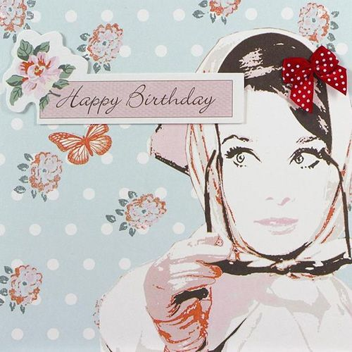 Simply Darling Audrey Scarf - Happy Birthday Card
