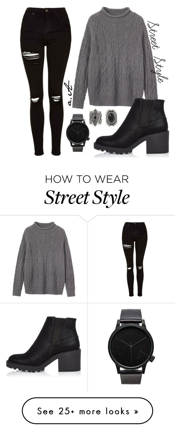 """Street Style"" by alicia-asisof on Polyvore featuring Topshop, Toast, River Island, New Look and Komono"