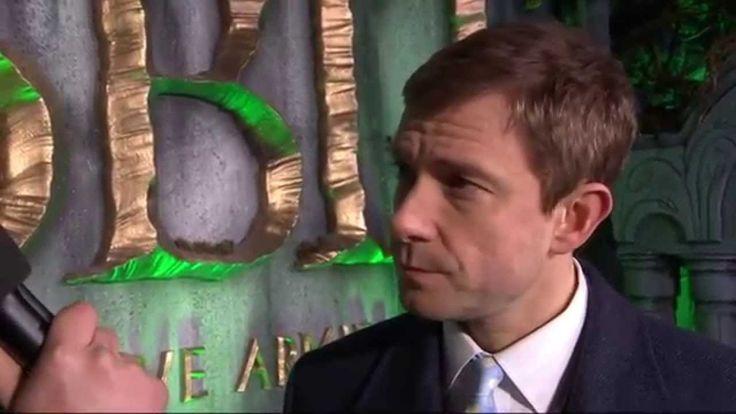 Martin Freeman @ The Hobbit TBoTFA World Premiere, London, 1-Dec-2014