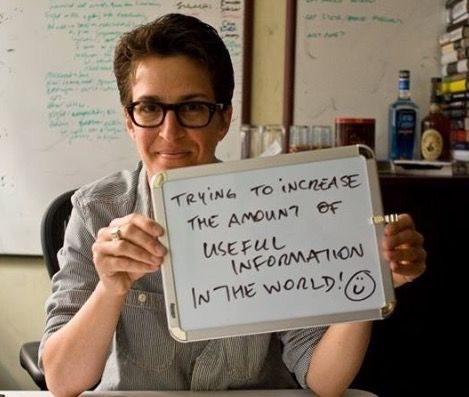 Rachel Maddow - the most intelligent person on television.
