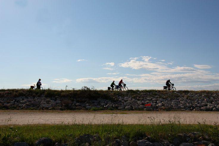in bici tra le rive