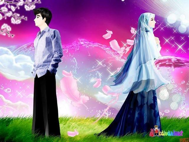 between us Cute muslim couples, Islamic cartoon, Cute