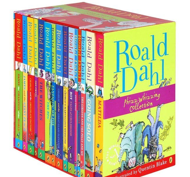 Roald Dahl 15 Book Box Set (Slipcase) Includes Matilda, Witches, The Twits, Fantastic Mr Fox, Charlie & the Chocolate Factory, Georges Marvellous Medicine, The BFG, Danny the Champion of the World