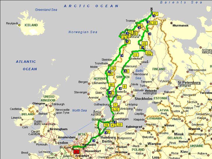 Met de auto naar de Noordkaap