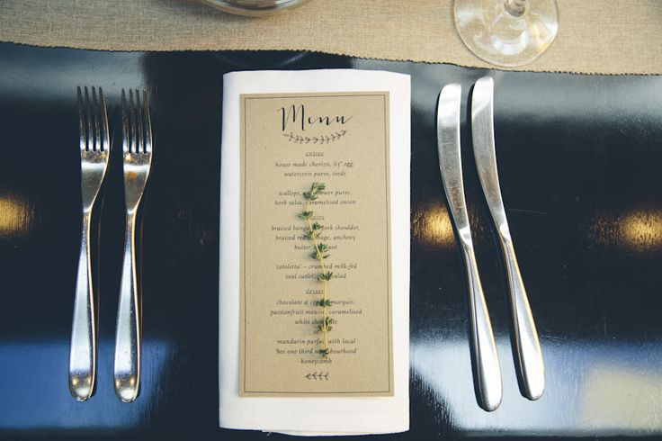 Rustic Stationery by Urban Weddings featured in Foreva Events Shoot at The Urbane Restaurant http://www.forevaevents.com.au/portfolio/urban-chic/