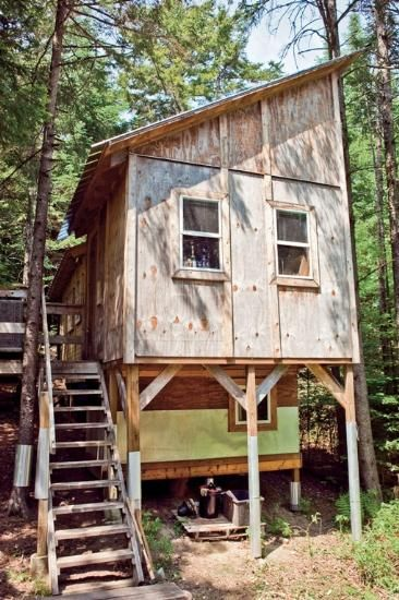 Handmade from salvaged and recycled materials, a tree house style Micro dwelling in Vermont.