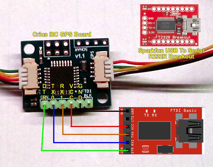 Crius I2C Nav Board - Programming By FTDI Adapter