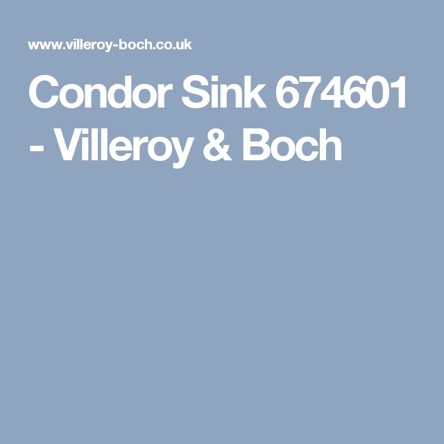 Condor Sink 674601 - Villeroy & Boch
