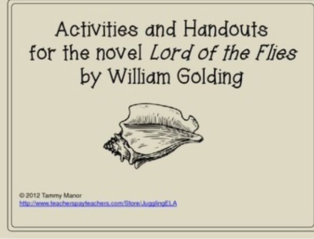 a representation of ideas in lord of the flies by william golding Lord of the flies is an allegorical novel written by william golding  for example , golding uses the conch to represent the backbone of civilisation and order on.