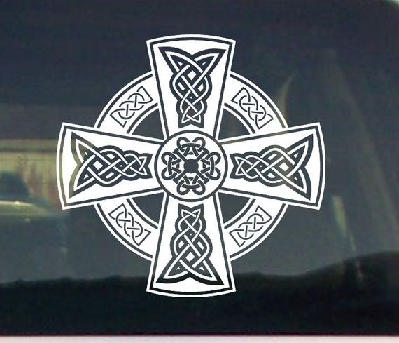 Celtic Cross Graphic Car Vinyl Decal Sticker By