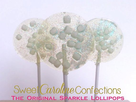 Marshmallow Lollipops, Hard Candy Lollipops, Party Favors, Candy, Sparkly Candy…