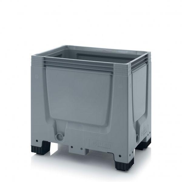 Palox en Plastique sur pieds, semelles et roues - 1200 x 800 mm ou 1200 x 1000 mm. Fond et parois pleins. Qualité alimentaire. Gamme complète de Palox. Devis en ligne. | Axess Industries