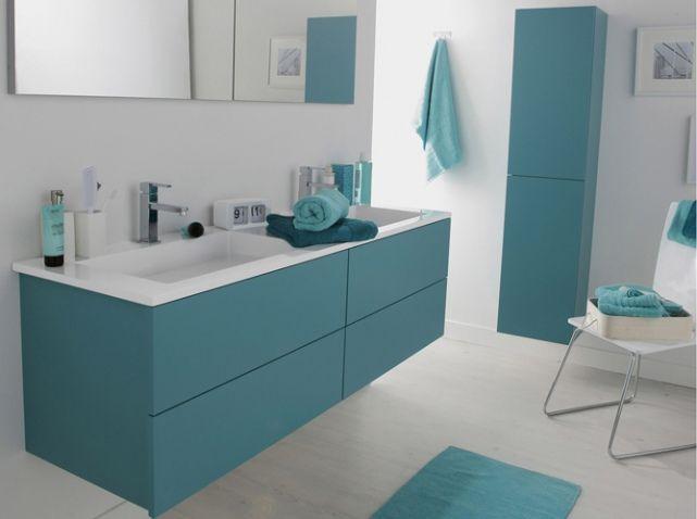 Salle de bains bleue leroy merlin
