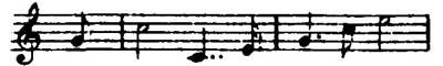 The Schwert (Sword) Leitmotive from Wagner's Die Walküre.