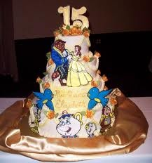 beauty and the beast cake,cute! | Ellas Birthday ...