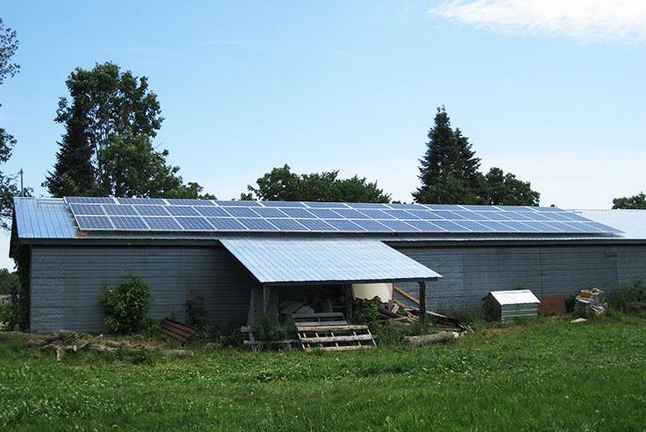 Grasshopper Solar | New Lowell 12.74kW Barn Roof Flush Mount Solar Panel System