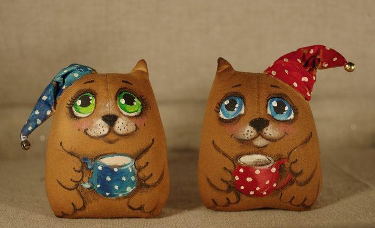 Кофейные сказки. Ароматные игрушки из ткани.
