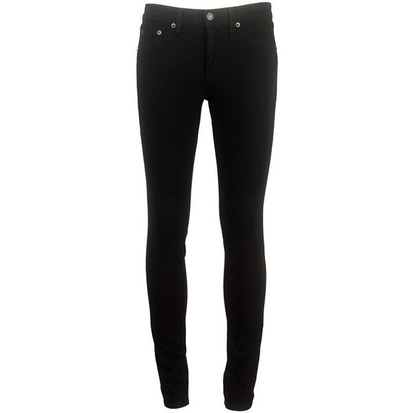 RAG & BONE Plush Legging ($235) ❤ liked on Polyvore featuring pants, leggings, jeans, bottoms, black, slim fit trousers, legging pants, slim fit pants, slim trousers and slim pants