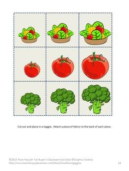 Fruit and Vegetable File Folder Games-students identify the difference between fruit and vegetables.