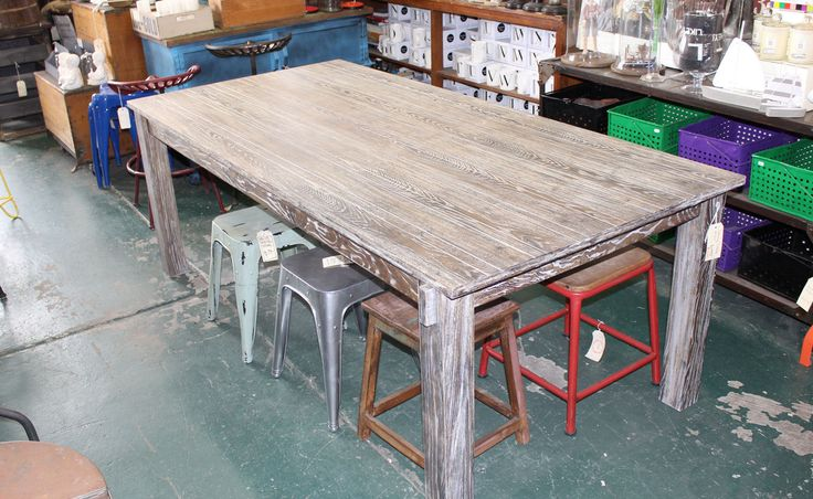 Rectangular 2 4M Timber Dining Table in Richmond, VIC | eBay
