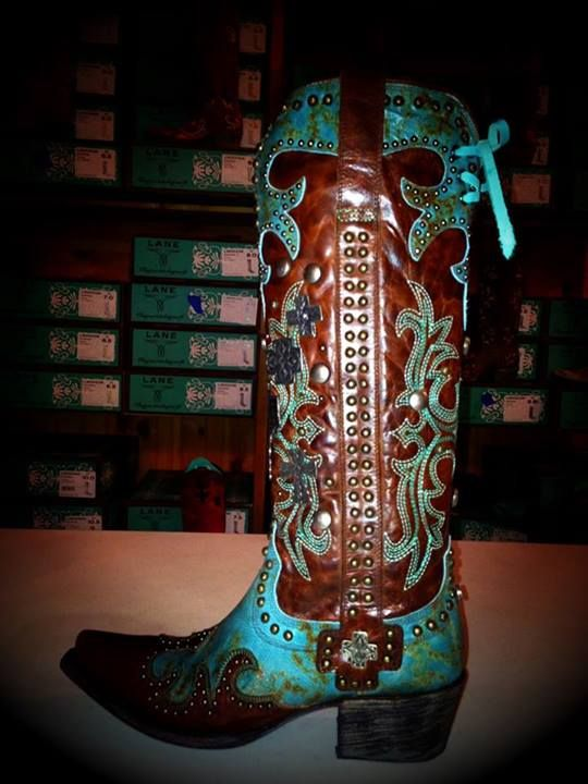 Lane for Double D Ranch Ammunition Cowgirl Boots in Turquoise. DD9001A at  RiverTrail in North