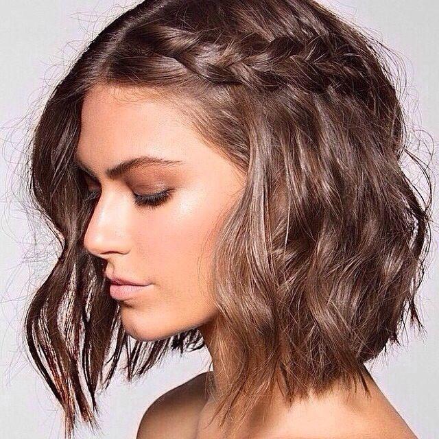Peinado para cabello corto / Hairstyle for short hair #peinados #hairstyle #trenzas #braids