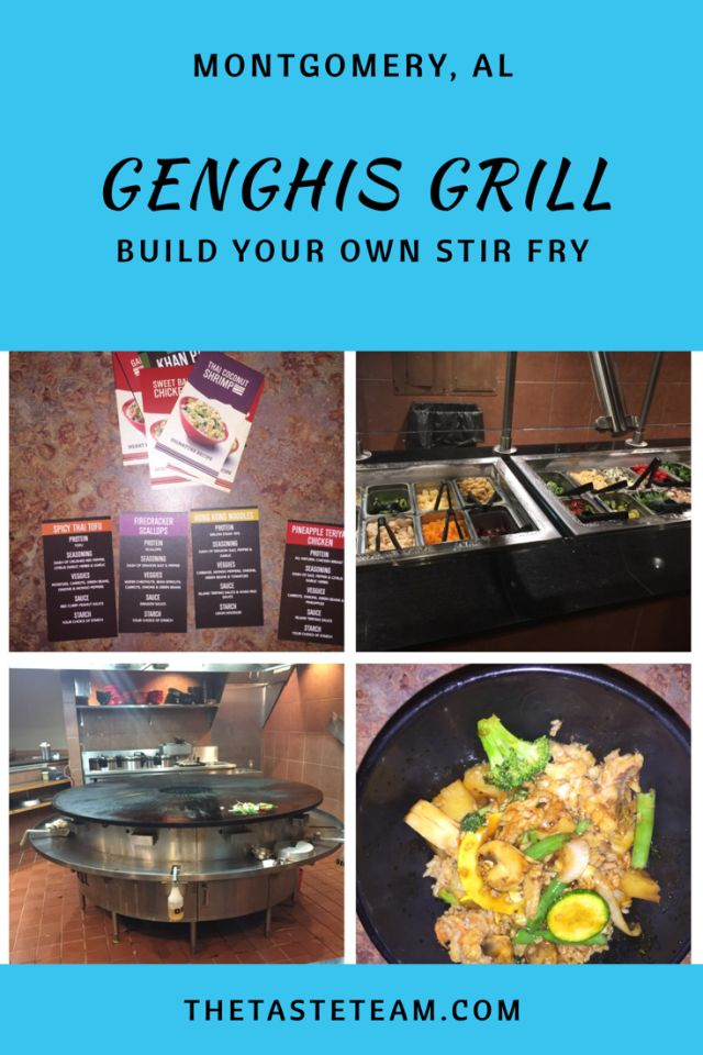 Genghis Grill Build Your Own Stir Fry Montgomery, AL