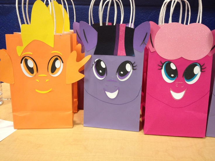 My Little Pony favor bags. $3.00, via Etsy.
