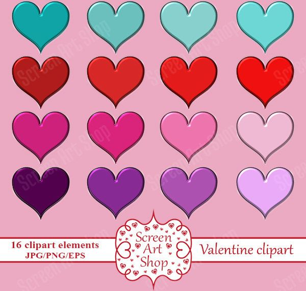 love hearts clipart digital heart print png hearts clipart cute heart clipart