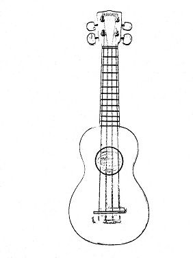 Guitar Coloring Pages Ukulele