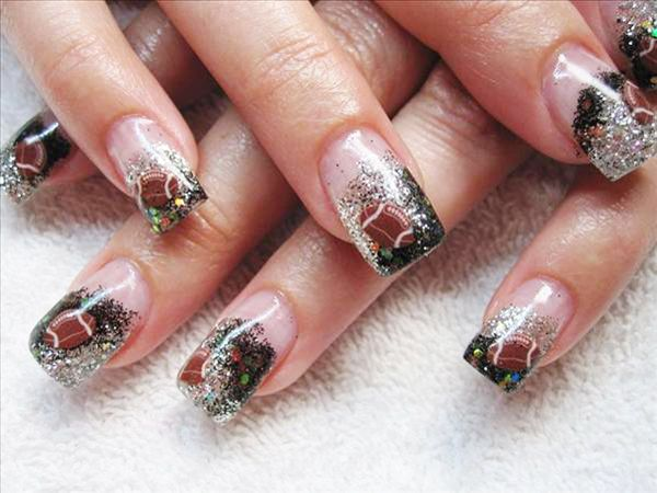 Best 25 football nail designs ideas on pinterest football nail girly football nail design prinsesfo Images