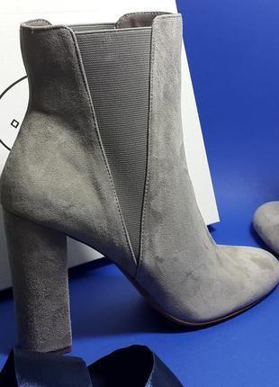 Steve madden оригинал серые замшевые ботильоны челси на широком каблуке  бренд из сша5 d7e55671ca36e