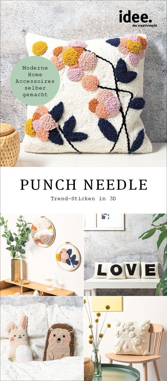 Needle Punching ist der neue DIY Trend! Mit der einfachen, aber  effektvollen St… – idee. Creativmarkt