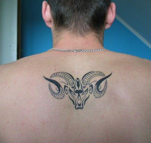 8216b7e433d92 beautiful aries symbol tattoo the tattoo shows the head of | Tattoo ...