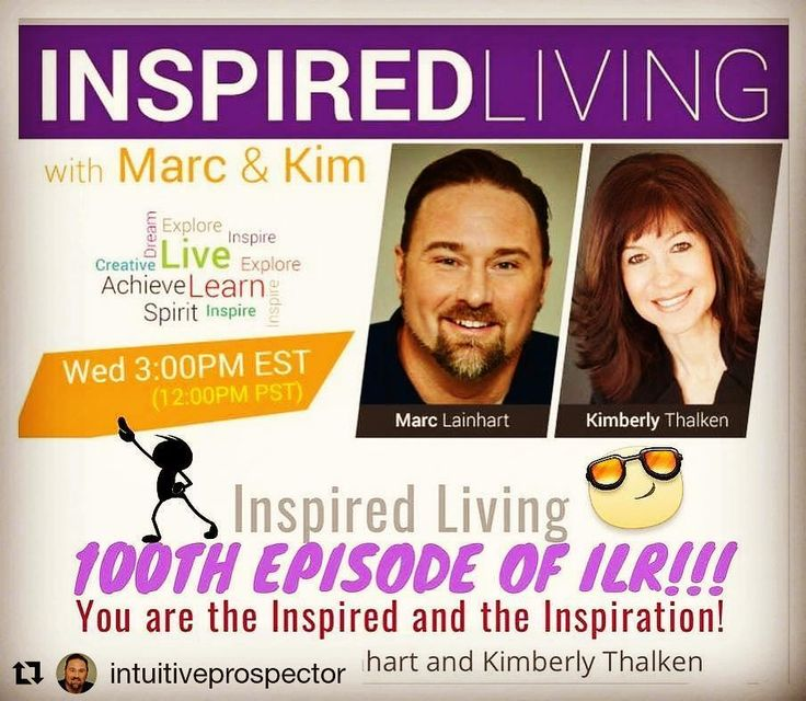 """#Repost @intuitiveprospector (@get_repost)  INSPIRED LIVING RADIO IS CELEBRATING 100 EPISODES!!! Join 'ILR' LIVE next """"Wisdom Wednesday"""" at 12pm PST / 3pm EST and celebrate with Kim and Marc as they open the phone lines for questions spiritual conversations FREE readings and discussions on their favorite past 'ILR' shows. A full hour dedicated to all of the """"Inspired Listeners"""" all around the world! <3 http://ift.tt/1f06wCb  Marc and Kim will also be doing a Pre-Show Facebook Live at 11:15am…"""