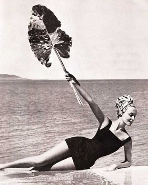 1957 Givenchy for Jantzen, Turban by Adolfo